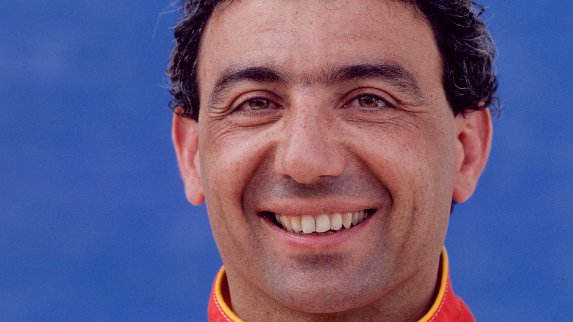 Le pilote automobile Michele Alboreto le 12 mars 1993, Afrique du Sud. (Photo by Jean-Marc LOUBAT/Gamma-Rapho via Getty Images)