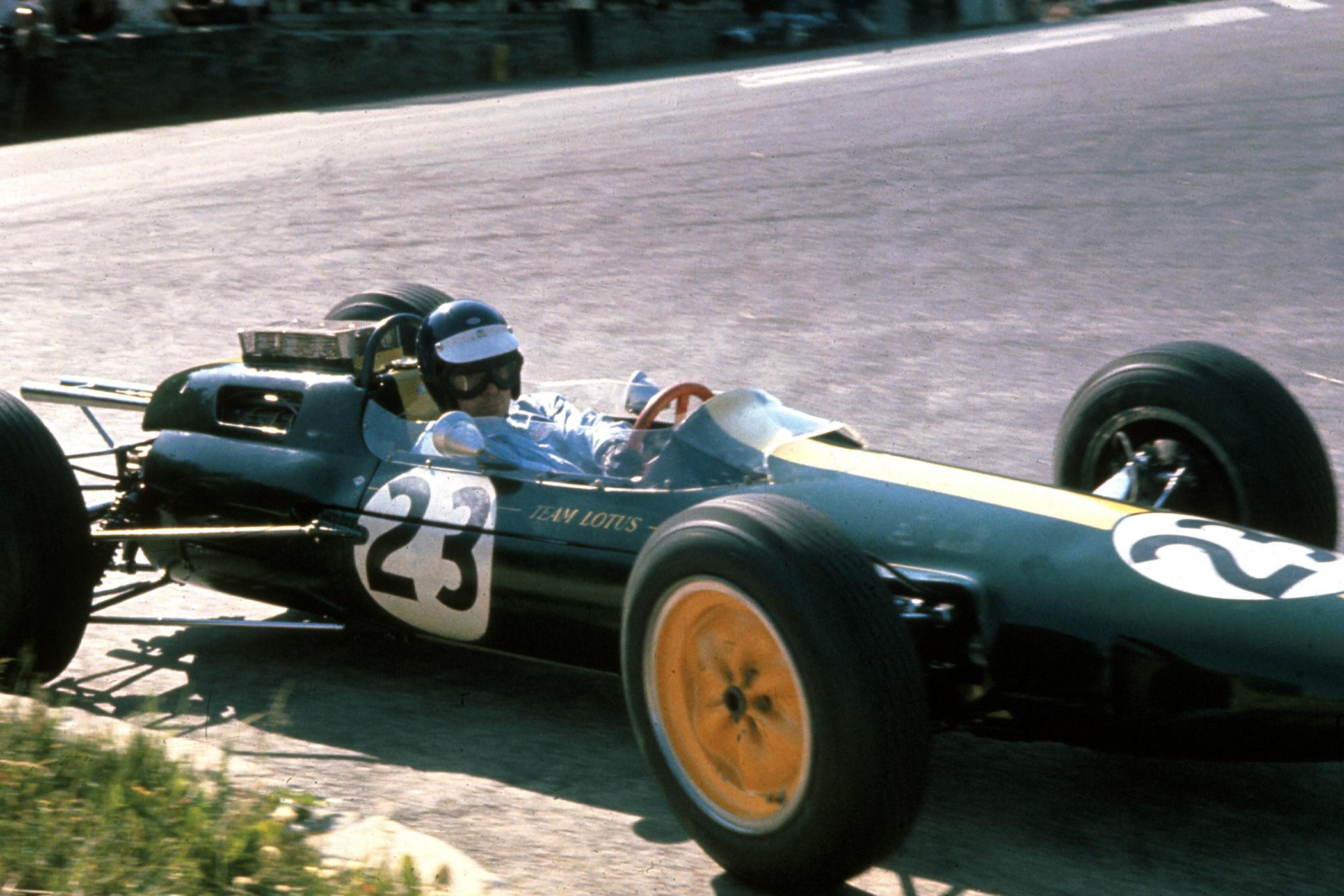 Jim Clark in his Lotus 25