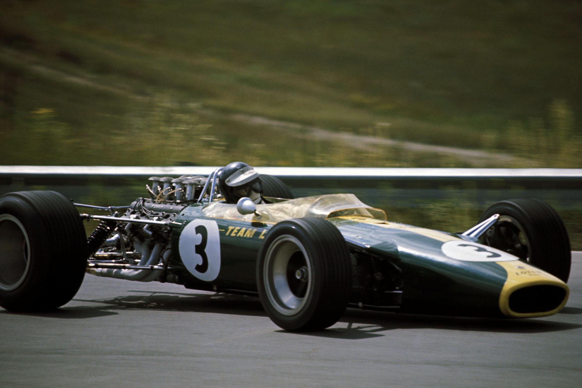 Jim Clark (GBR) Lotus Ford 49.