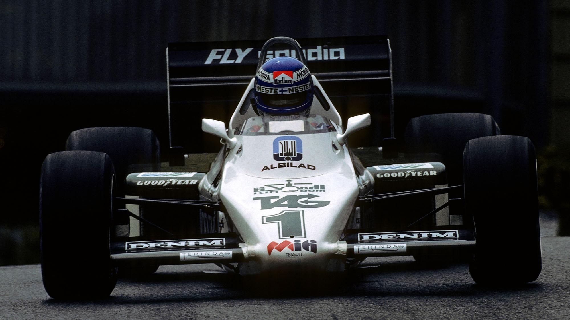 Keke Rosberg, Williams-Ford FW08C, Grand Prix of Monaco, Circuit de Monaco, 15 May 1983. Keke Rosberg and his Williams-Ford FW08C on the way to victory in the 1983 Grand Prix of Monaco. (Photo by Paul-Henri Cahier/Getty Images)