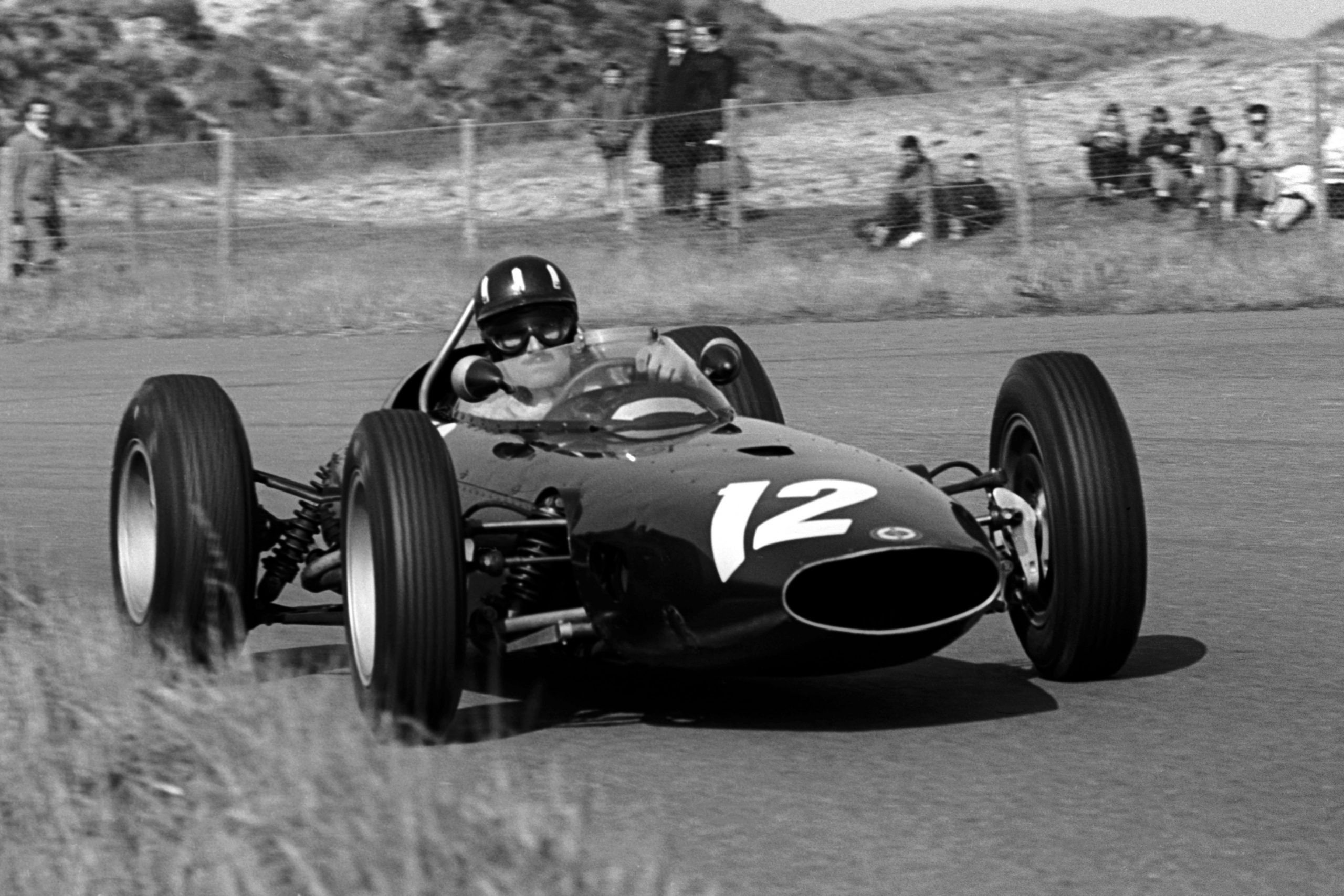 Graham Hill in his BRM P57.