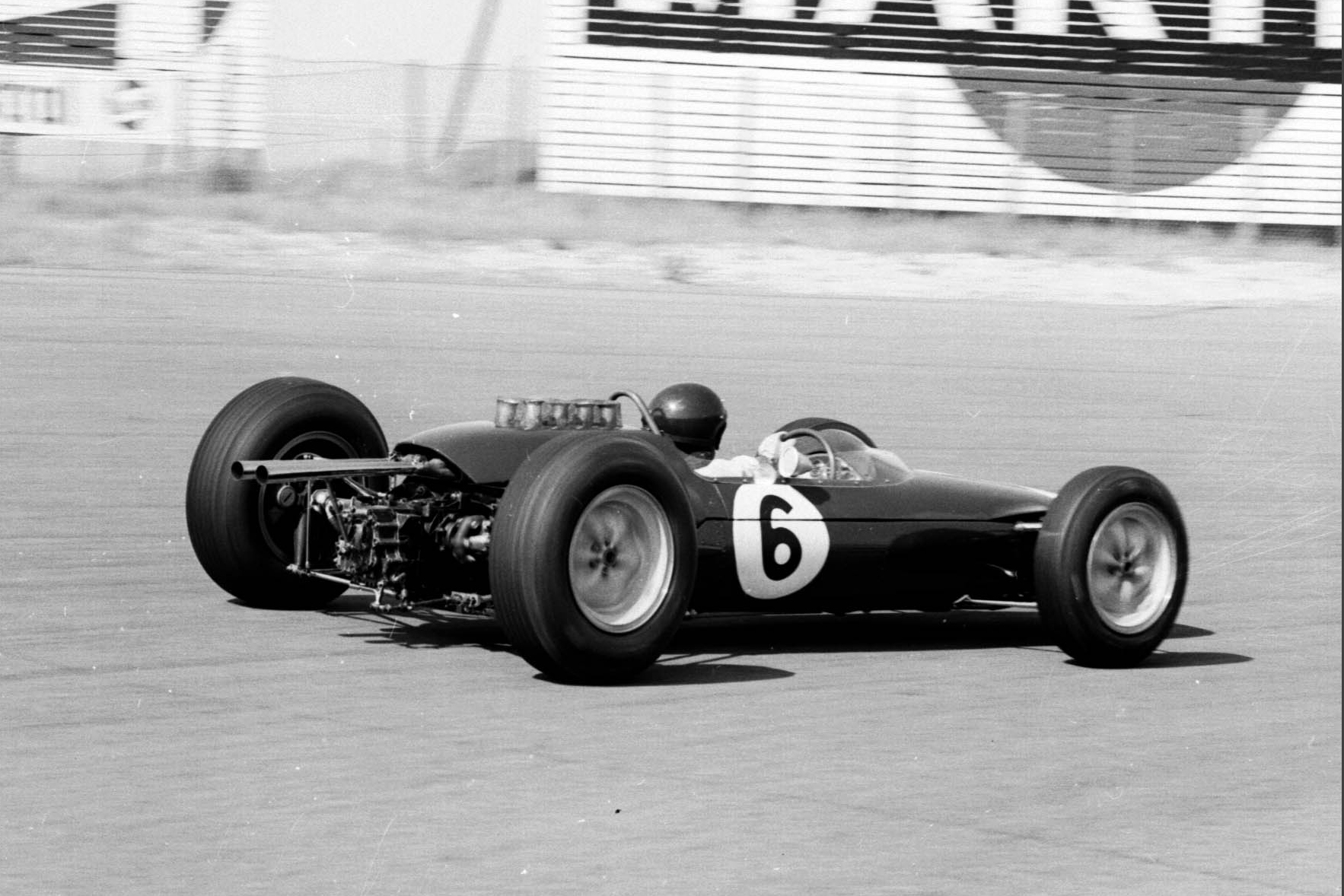 Jim Clark in his Lotus 25 Climax.