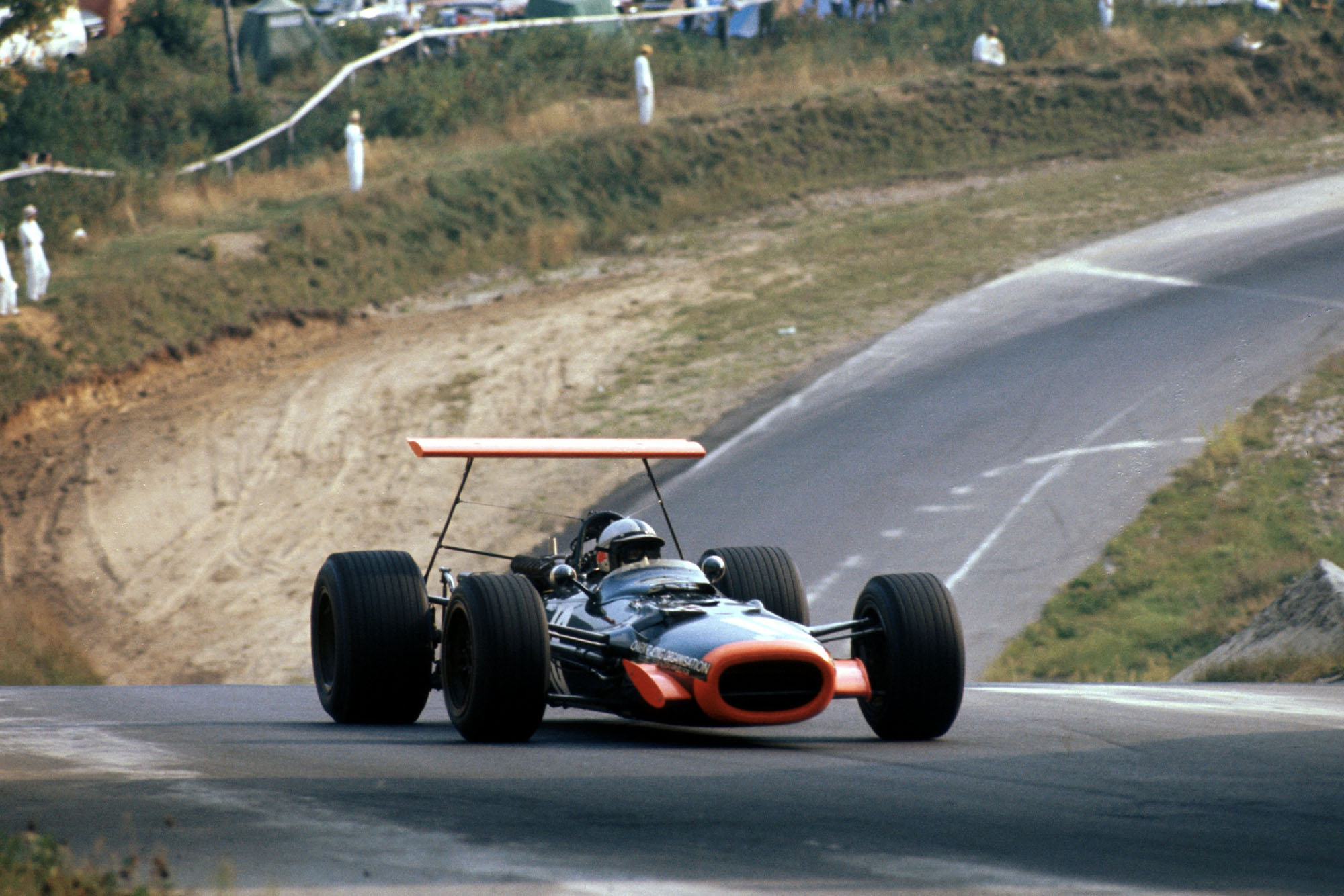 Pedro Rodriguez racing for BRM at the 1968 Canadian Grand Prix.
