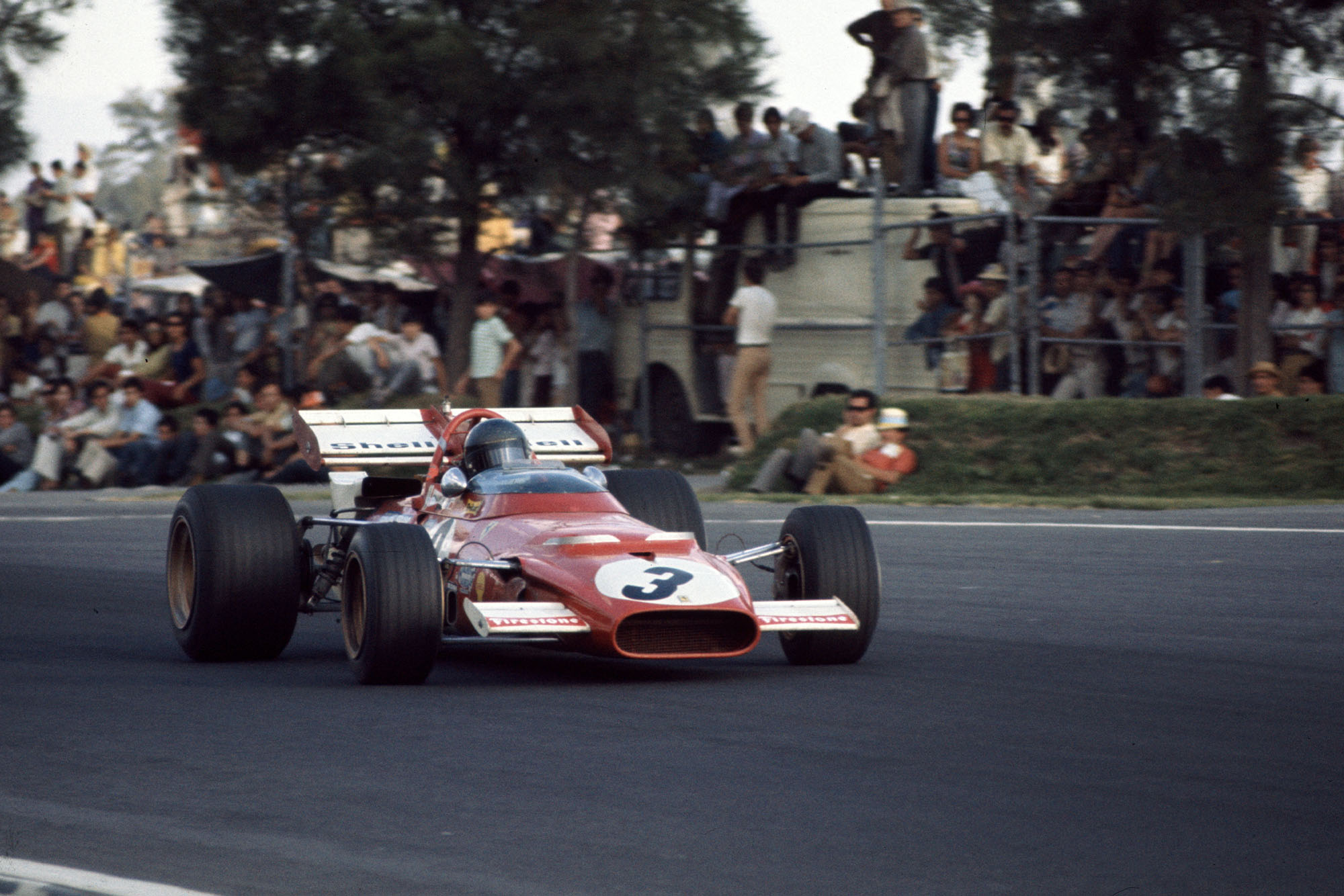 Jacky Ickx driving for Ferrari at the 1970 Mexican Grand Prix
