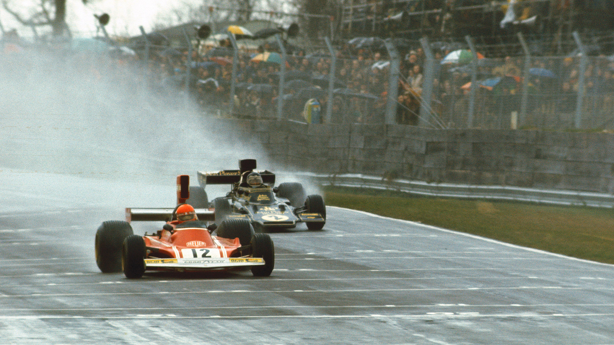Jacky Ickx follows Nicki Lauda in the 1974 Race of Champions