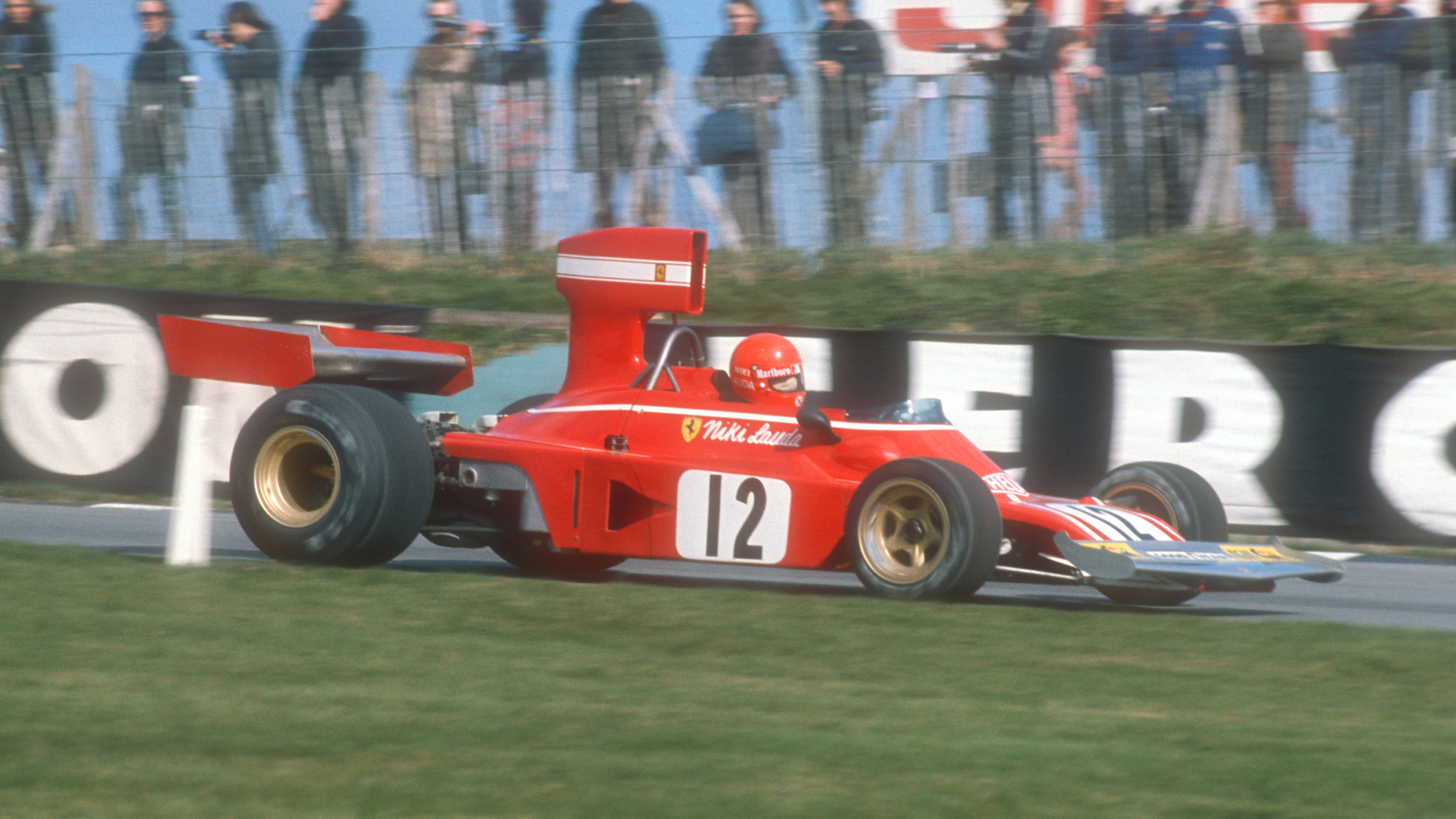 Nicki Lauda at the 1974 Race of Champions