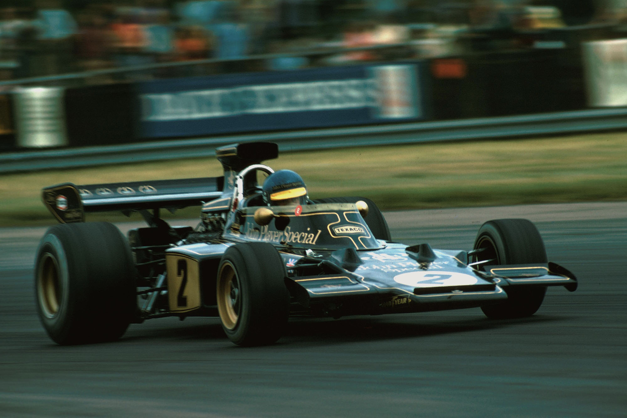 Ronnie Peterson driving for Lotus at the 1973 Swedish Grand Prix