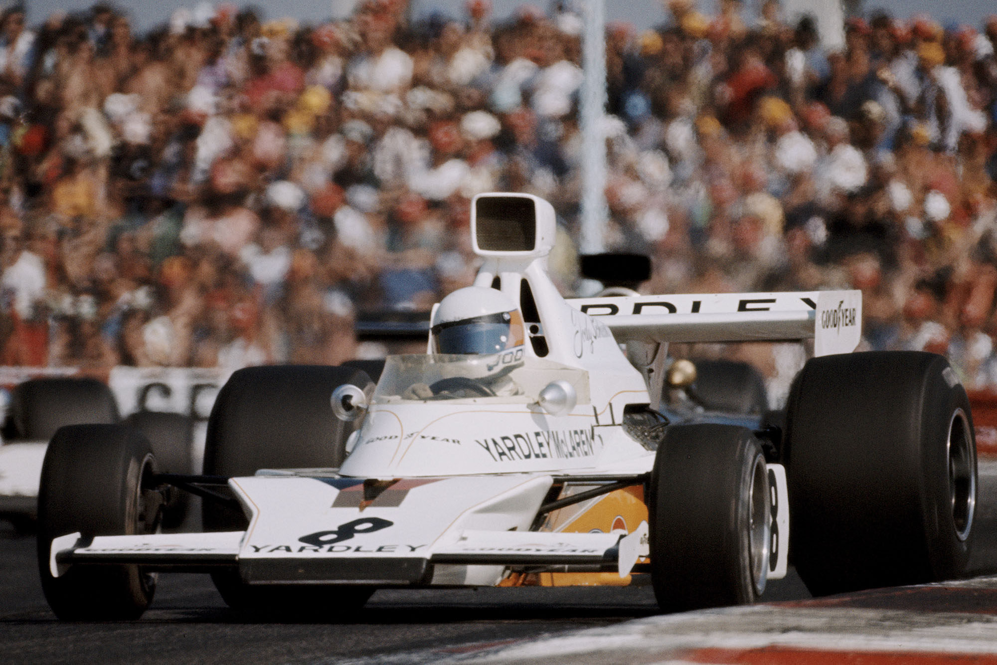 Jody Scheckter driving for McLaren at the 1973 French Grand Prix, Paul Ricard.