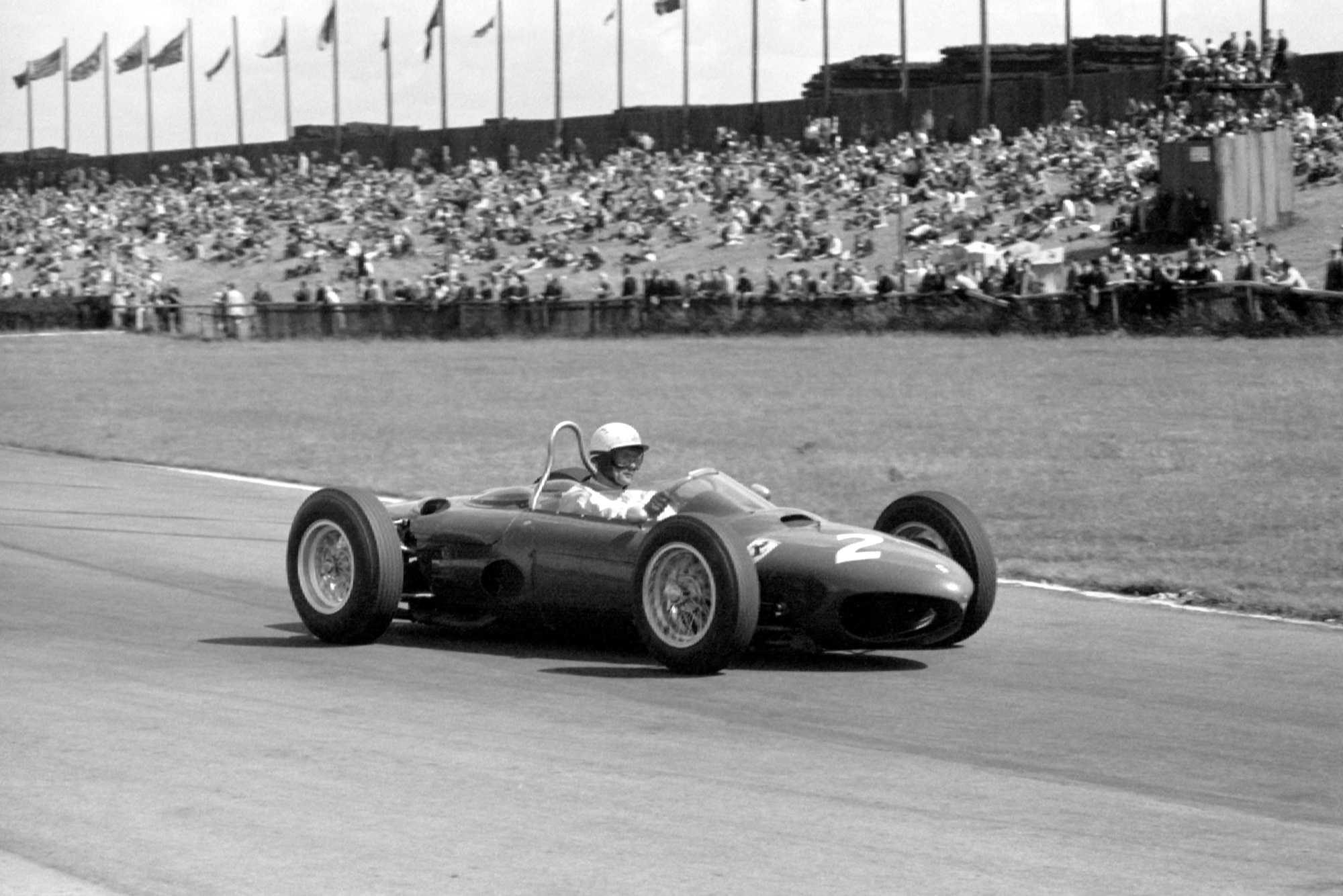 Phil Hill at Aintree in the 1962 British Grand Prix