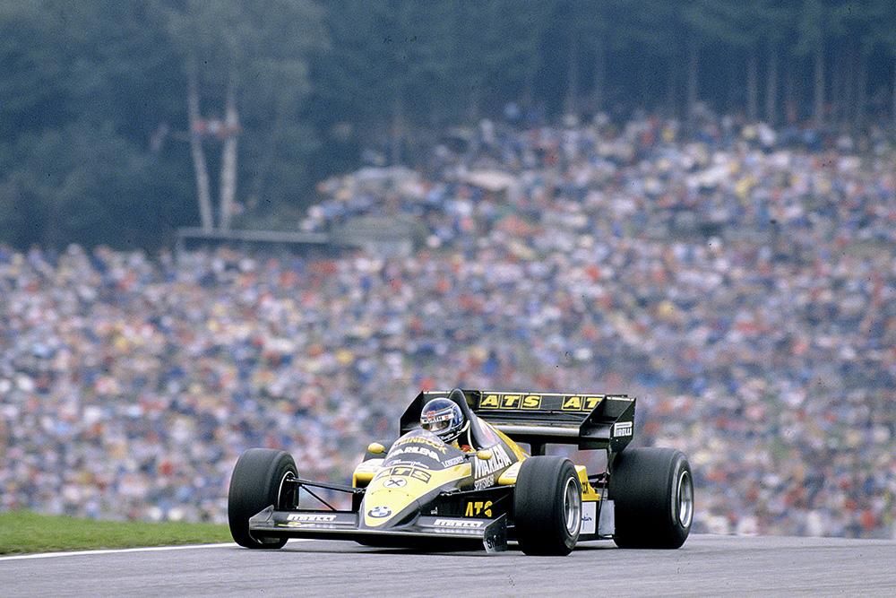 Gerhard Berger driving his ATS D7 BMW.