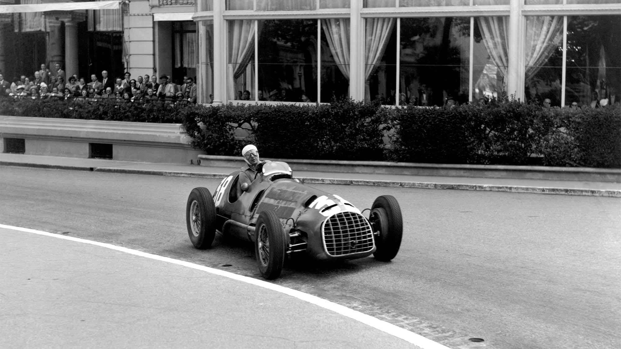 MOTORSPORT - F1 1950 - MONACO GRAND PRIX - 05/21/1950 - MONTE-CARLO (MON) - PHOTO: DPPI / LAT Luigi Villoresi - Ferrari 125 - Action Ferrari first F1 GP