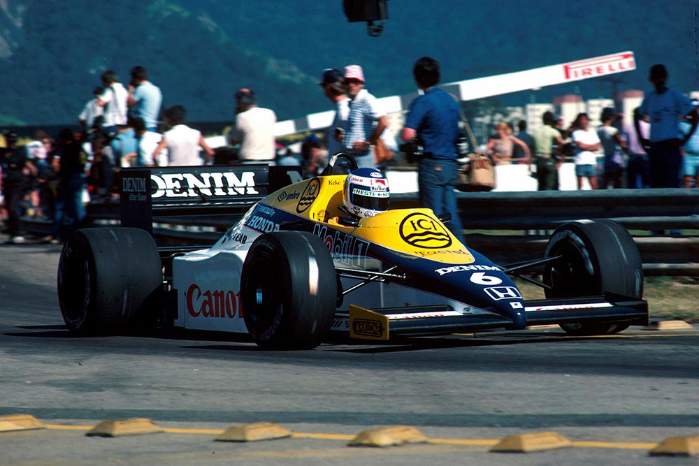 Keke Rosberg in a Williams FW10 led for the first ten laps before his turbo blew.