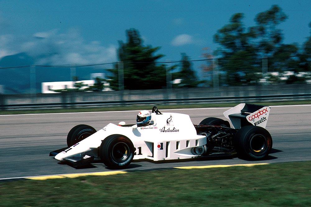 Mauro Baldi driving his Spirit 101D.