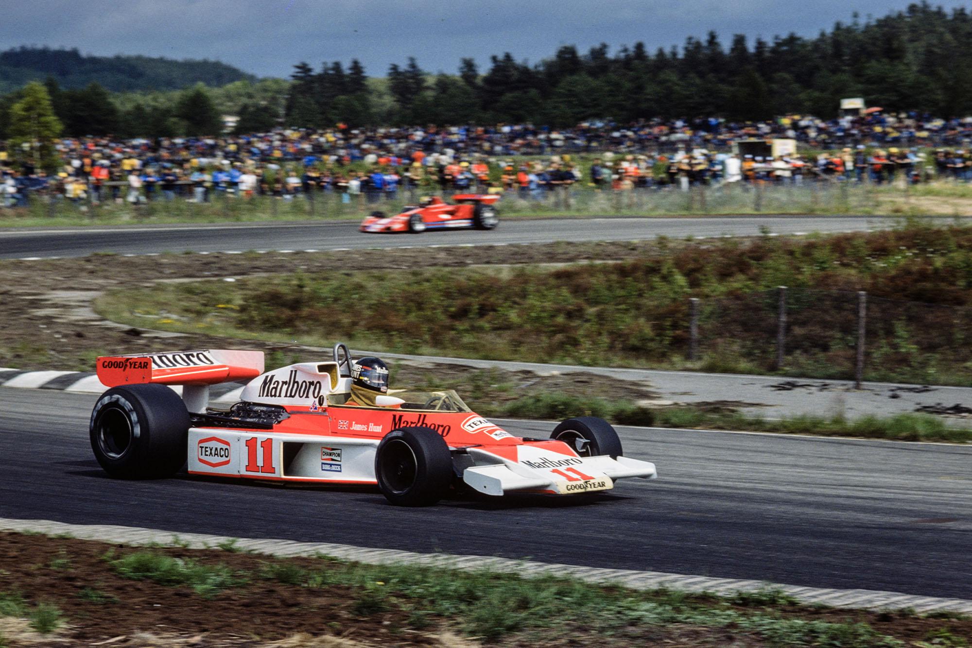 James Hunt (McLaren) at the 1976 Swedish Grand Prix.