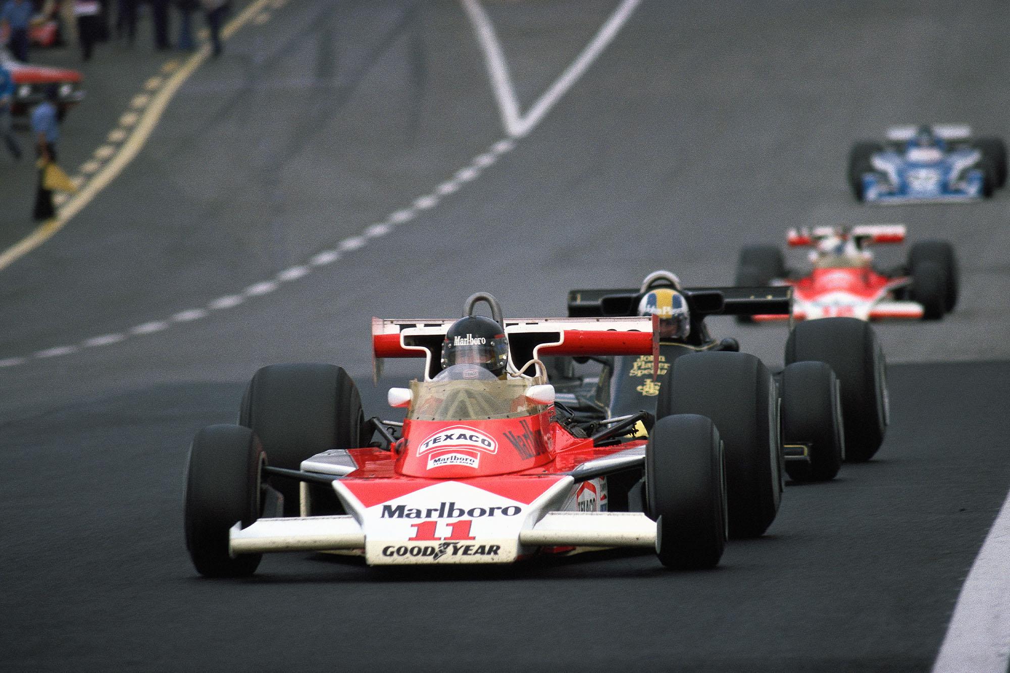 James Hunt (McLaren ) at the 1976 Austrian Grand Prix Österreichring.