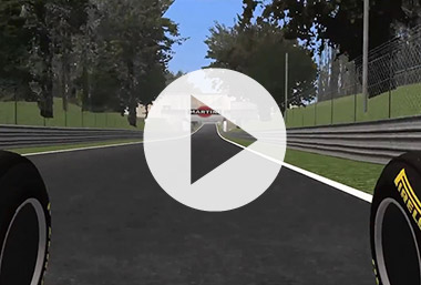 Monza with next year's Mercedes turbo