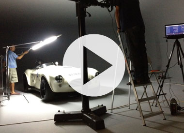 Behind the scenes of October's cover shoot