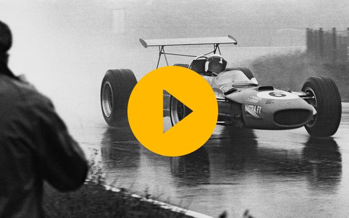 Honda's Joey Dunlop celebration