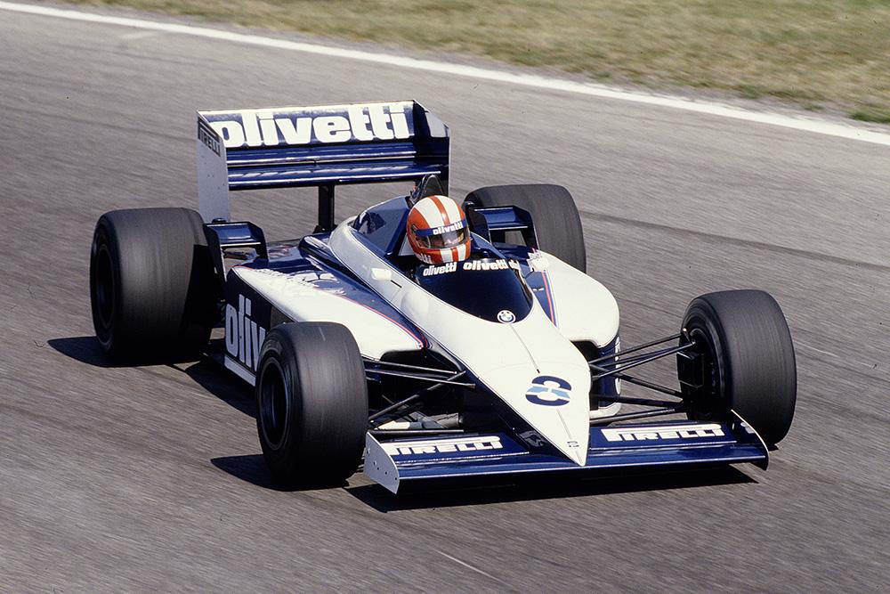 Marc Surerin his Brabham BT54 BMW.