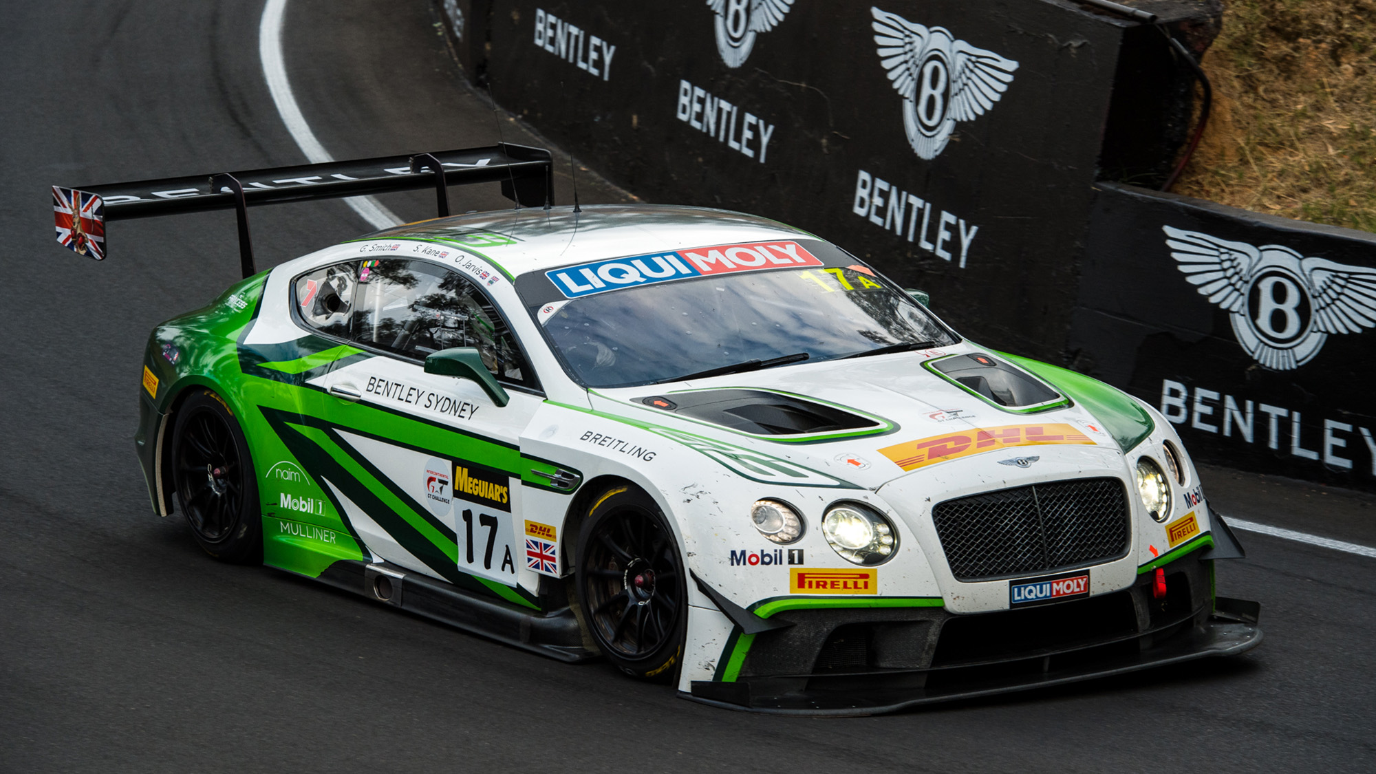 Bentley Continental GT3 in the 2017 Bathurst 12 Hours
