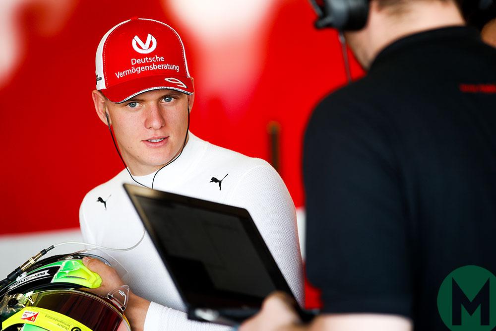 Mick Schumacher in a 2019 Prema F2 test