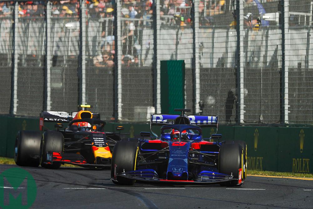 Kvyat Gasly 2019 Australian Grand Prix