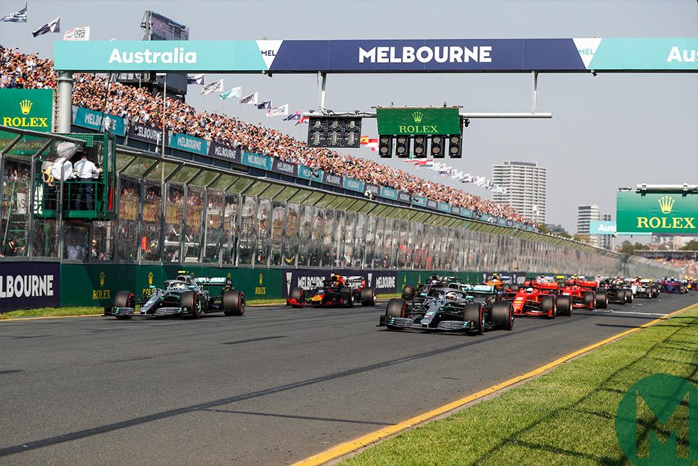 2019 Formula 1 Australian Grand Prix start