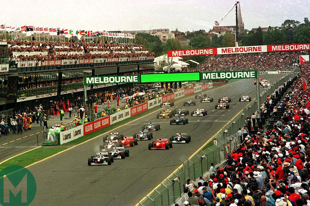 The start of the 1997 Australian Grand Prix