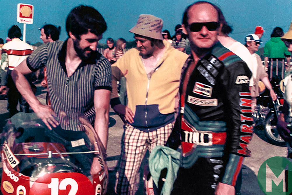 Mike Hailwood and his Ducati, in the 1978 Isle of Man TT