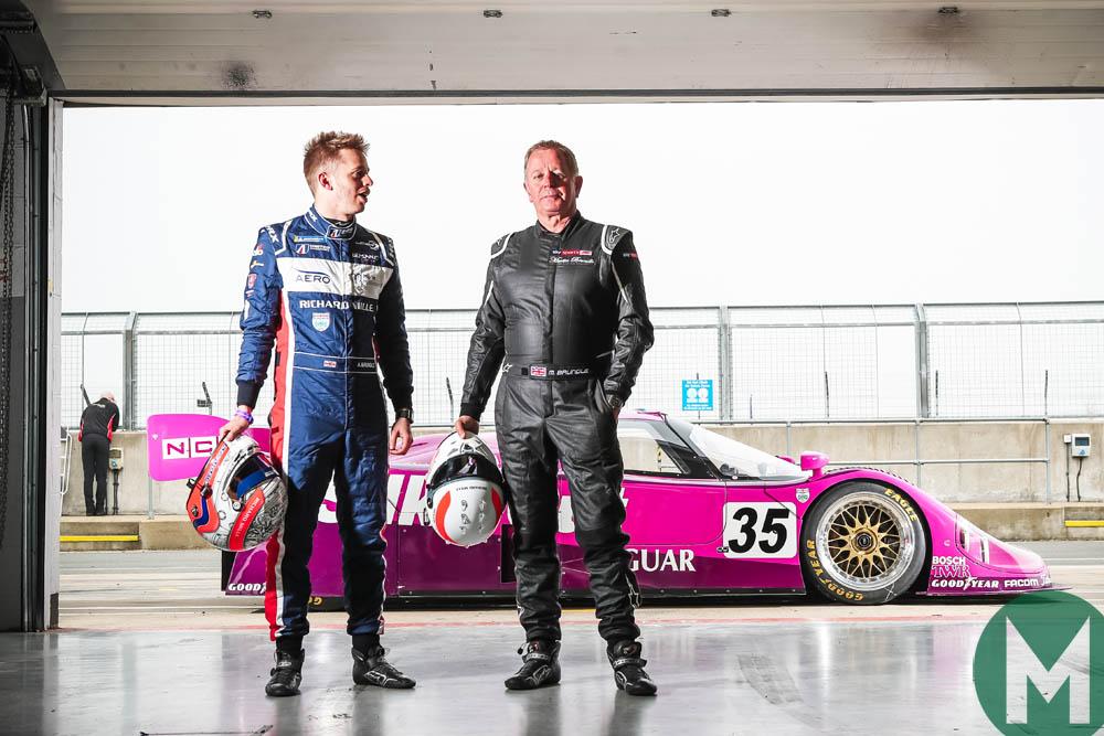 Martin Brundle, Alex Brundle and Jaguar XJR-12