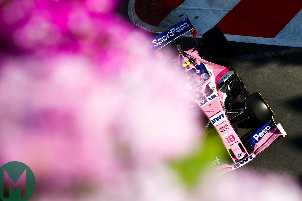2019 F1 Azerbaijan Lance Stroll racing point