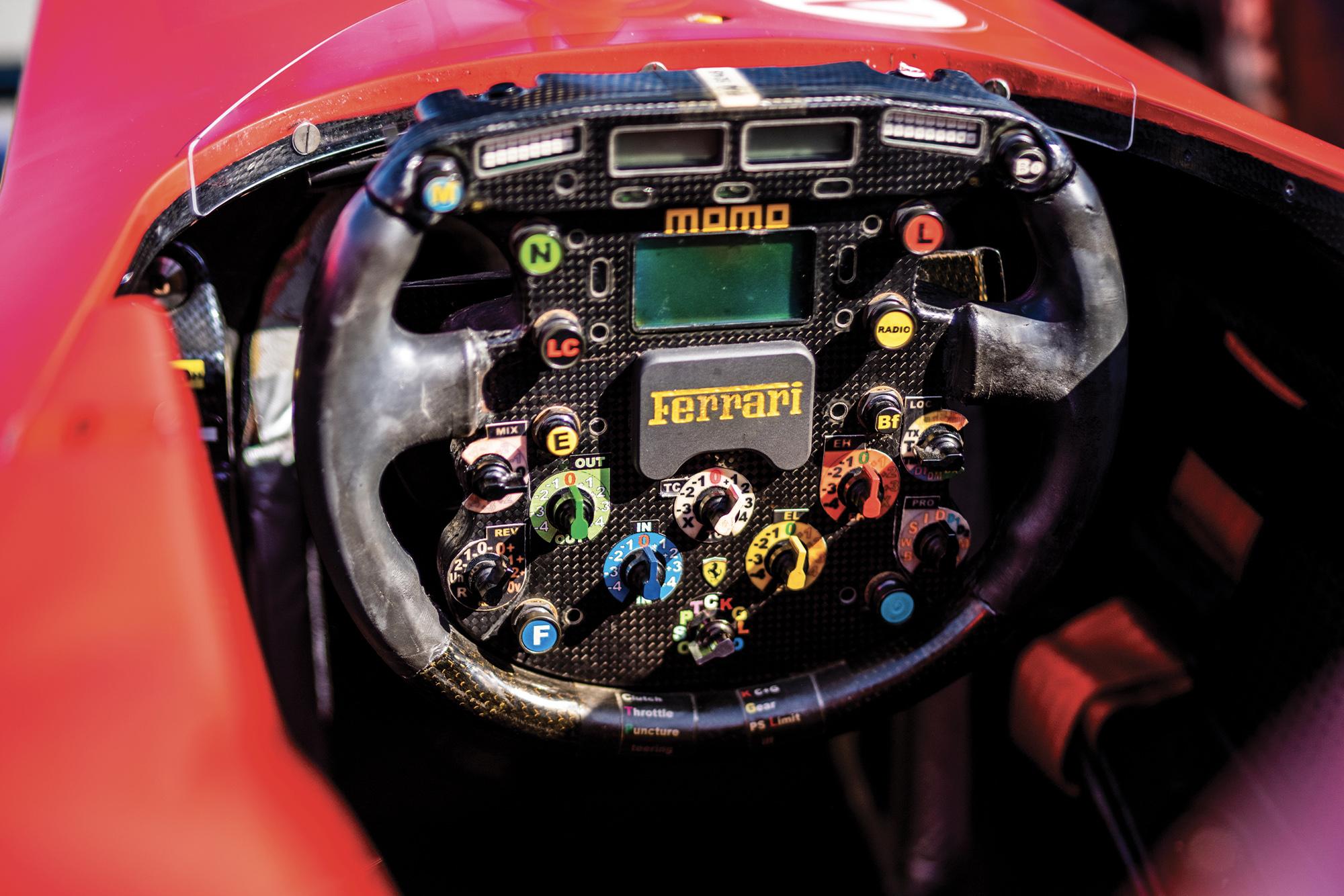 Michael Schumacher's Ferrari F2002 for auction cockpit