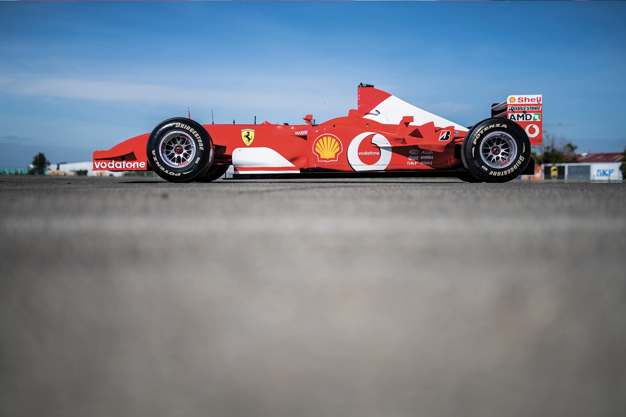 Michael Schumacher's Ferrari F2002 for auction side view