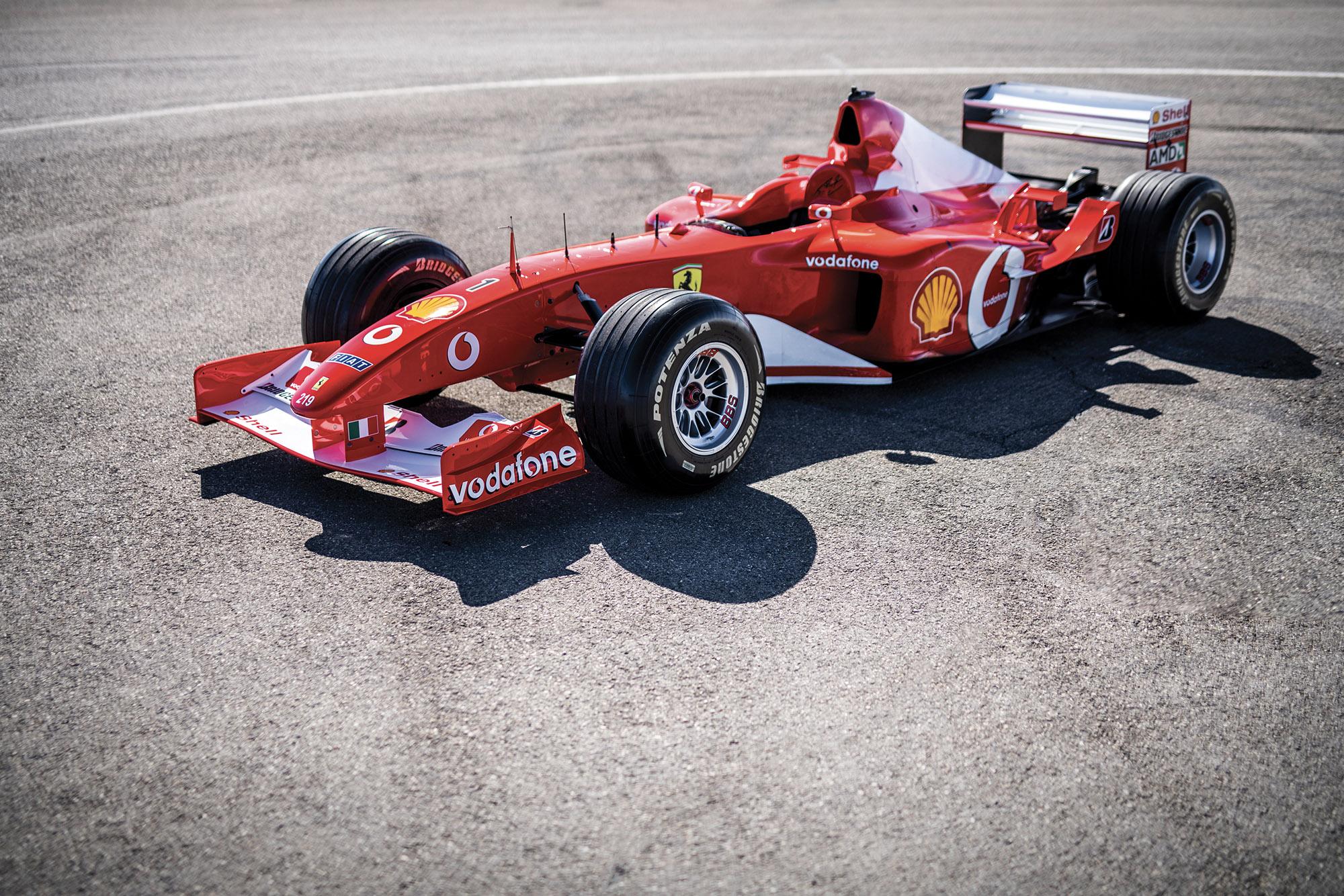 Michael Schumacher's Ferrari F2002 for auction
