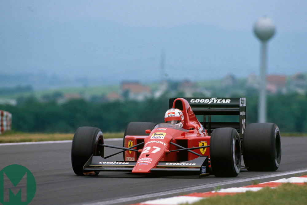 One of Nigel Mansell's finest drives for Ferrari, he won the 1989 Hungarian Grand Prix