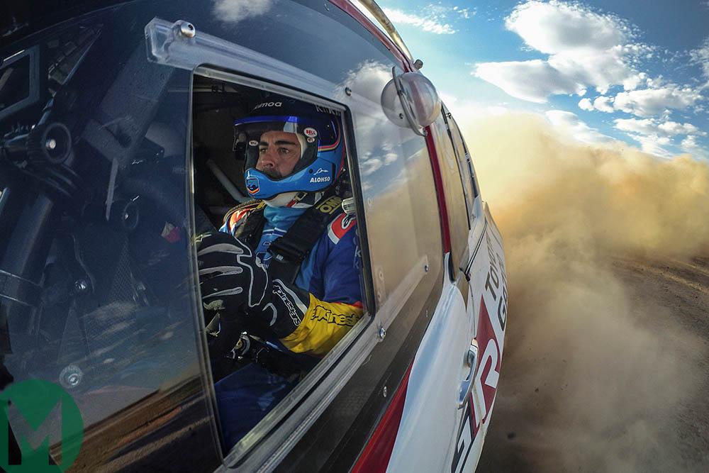 Fernando Alonso testing ahead of the 2020 Dakar Rally