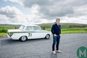 Video: Dario Franchitti delivers Jim Clark's Lotus Cortina to new museum
