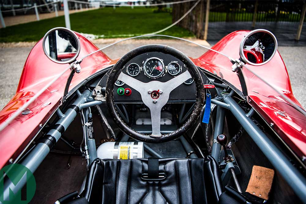 The driver's eye view of the (effectively) central single-seater Zerex