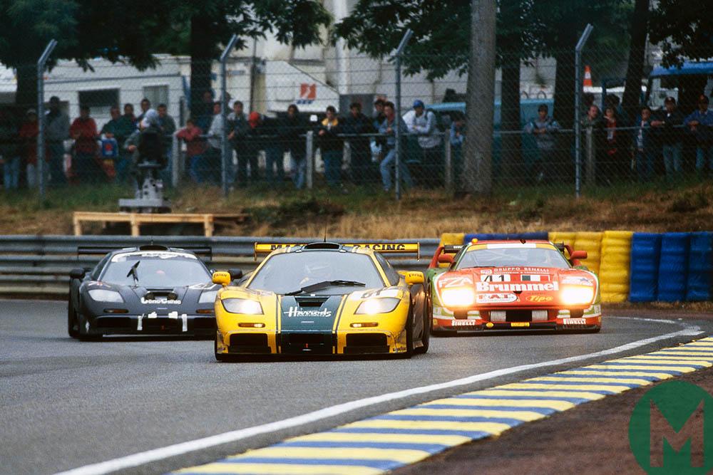 McLaren F1s at Le Mans in 1995