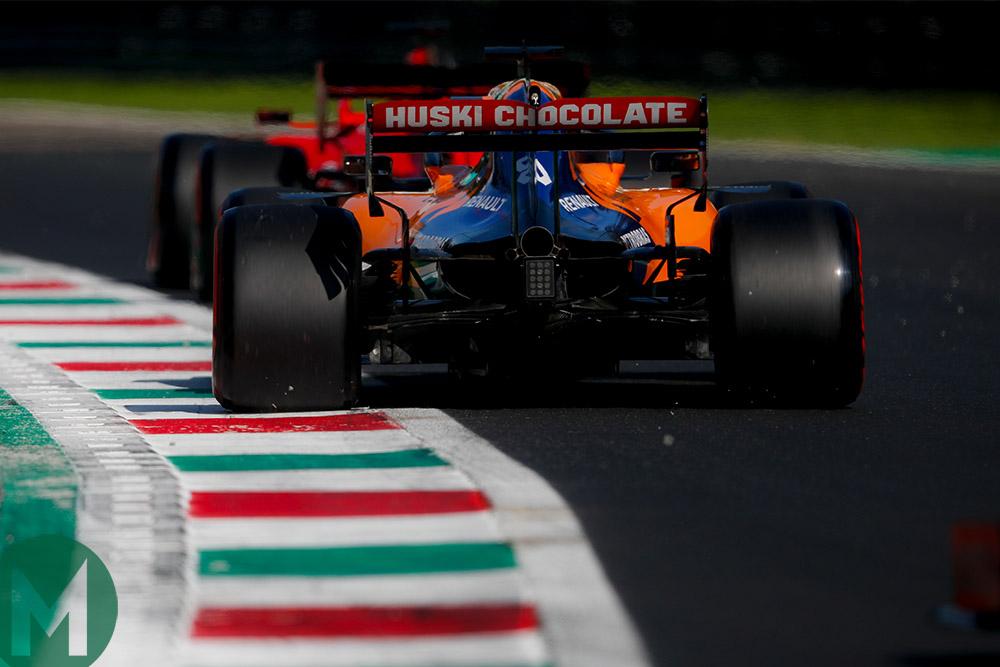 Carlos Sainz follows Sebastian Vettel during Q3 for the 2019 Italian Grand Prix