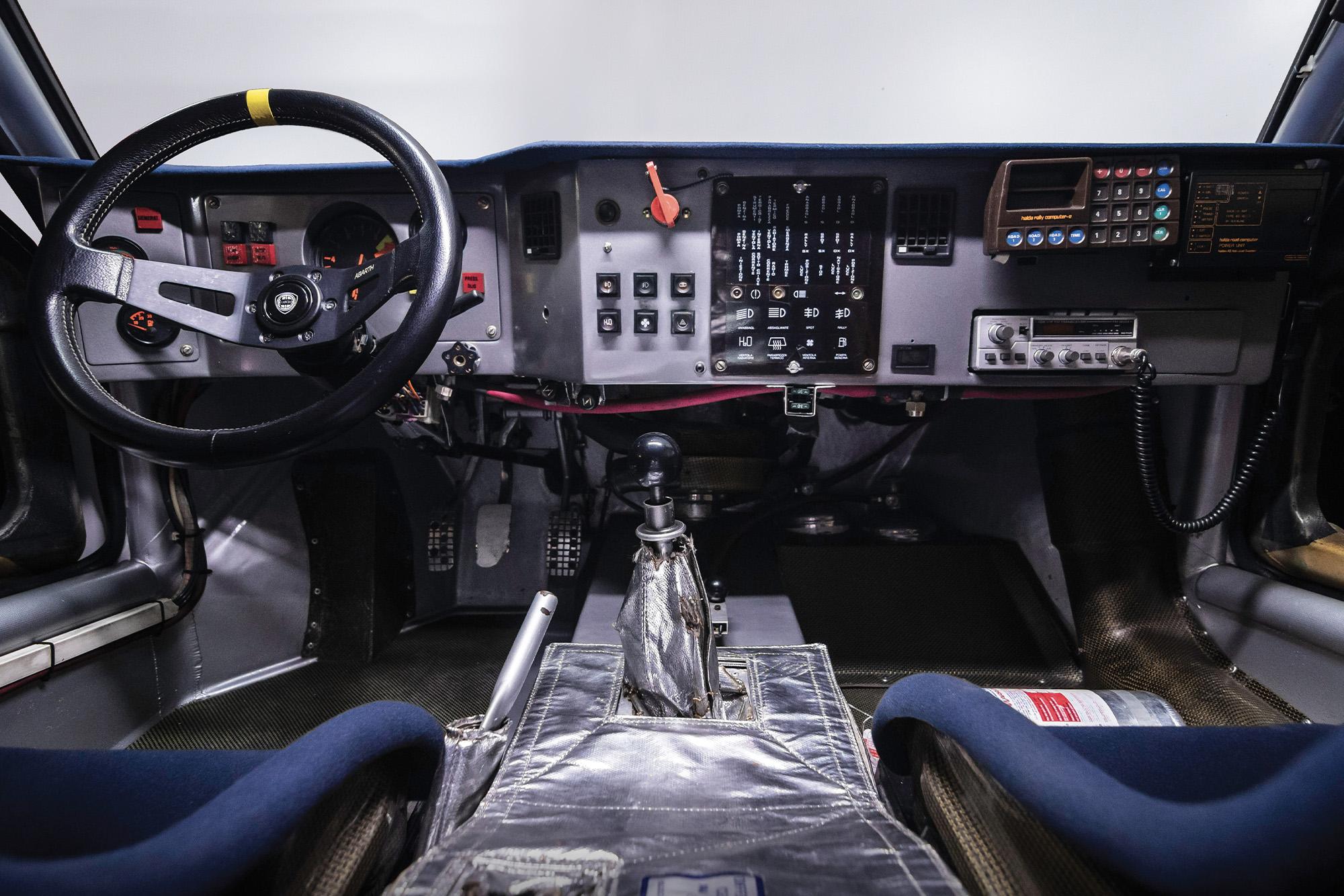 Interior of the 1985 RAC Rally-winning Lancia Delta S4