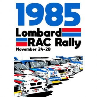 Product image for WRC Group B | Lombard RAC Rally - 1985 | Joel Clark | contemporary poster
