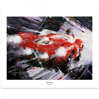 Product image for Famous Victory | Phil Hill - Ferrari 250 - 1958 | John Ketchell | Limited Edition print