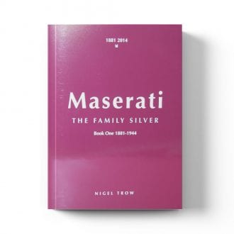 Product image for Maserati: The Family Silver | Nigel Trow | Book | Hardback |