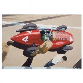 Product image for Mike Hawthorn - Ferrari Squalo - 1955   signed by artist   Limited Edition print