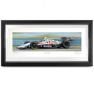 Product image for Champion Paradise | Nigel Mansell -  Newman Haas Lola - 1993 | signed Nigel Mansell | print