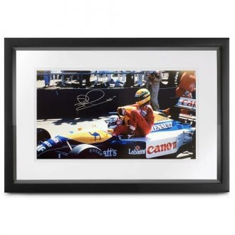 Product image for Taxi for Senna   Nigel Mansell – Williams FW14 – 1991   signed Nigel Mansell   print