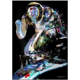 Product image for Celebration | Lewis Hamilton | Mercedes 2019 | Andrew Barber | print
