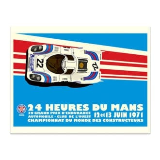 Product image for Martini Porsche 917K - Le Mans - 1971 | Studio Bilbey | Limited Edition print