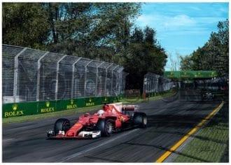 Product image for Sebastian Vettel - Ferrari – 2017   David Johnson   Limited Edition print
